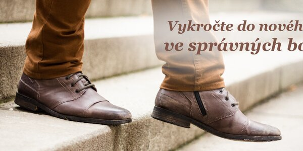 Pánové, vykročte do nového roku ve správných botách