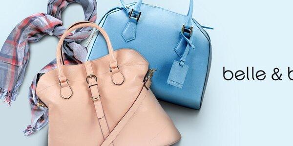 Kožené kabelky a slušivé šátky Belle & Bloom