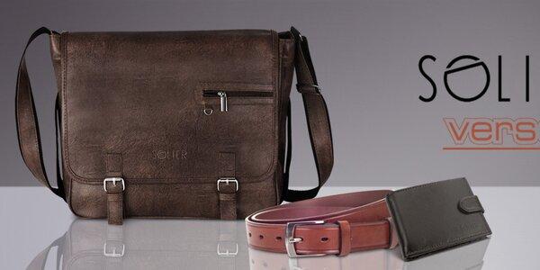 Pánské tašky, pěněženky a pásky Solier, Verso