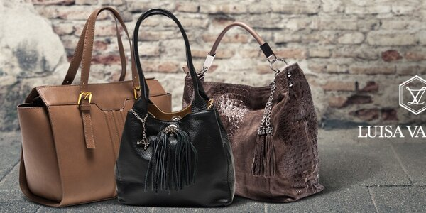 Luxusní kožené tašky Luisa Vannini