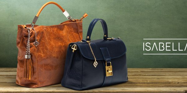 Půvabné dámské kožené kabelky Isabella Rhea