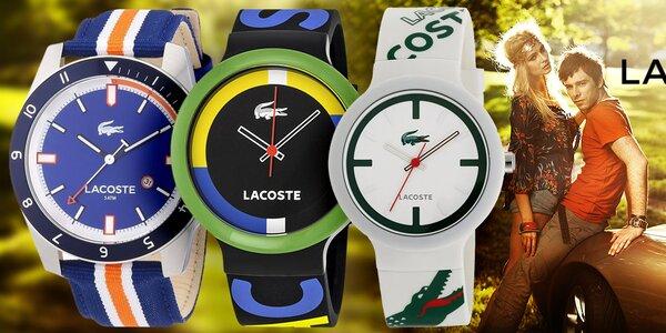 Lacoste barevné dámské i pánské hodinky