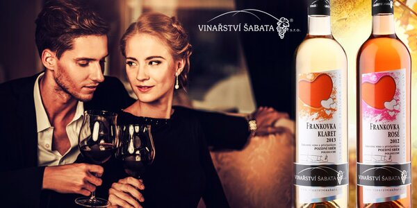 Valentýnská vína z vinařství Šabata