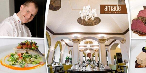 5chodové tasting menu pro dva v Amade restaurantu s valentýnskou variantou