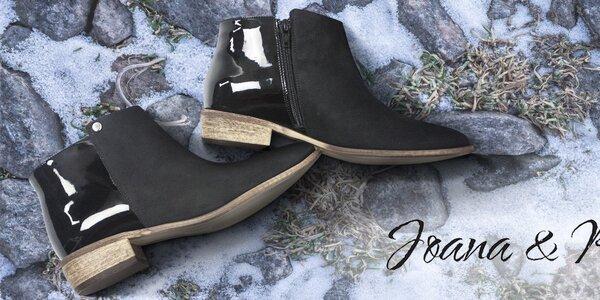 Dámské kožené boty do města Joana and Paola