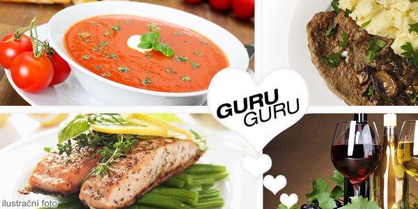 3chodové menu pro dva v Guru Guru