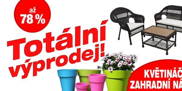 Likvidace zásob: Zahradní nábytek a květináče