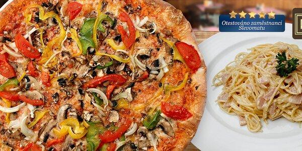 2 pizzy či těstoviny i s rozvozem v pizzerii Roma Uno (otevřeno nonstop!)
