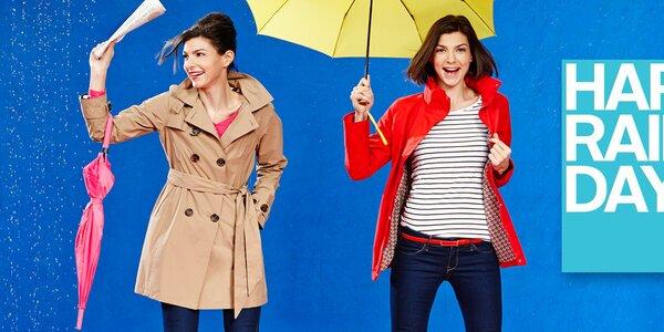 Dámské barevné bundy a trenčkoty Happy Rainy Days