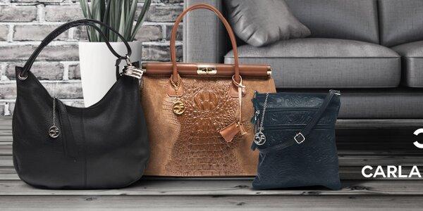 Dámské kožené kabelky Carla Ferreri