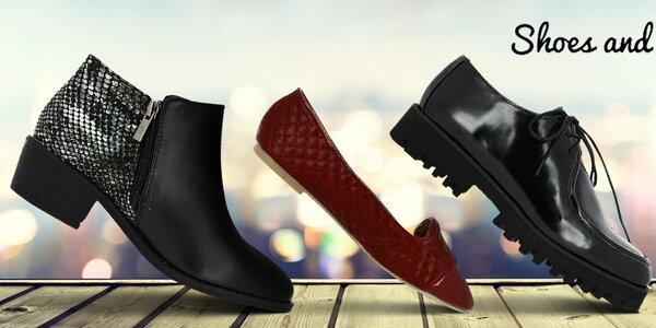 Stylové módní boty Shoes and the City