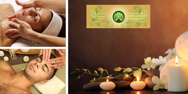 Luxusní, kosmetické ošetření v délce 105 minut ájurvédskou kosmetikou