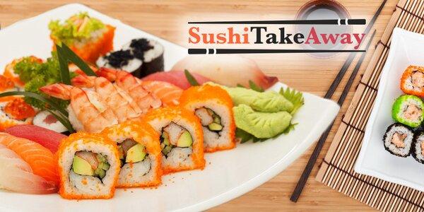 Lahodné sushi sety s sebou (22-38 ks i polévky)