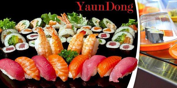 Neomezený přísun running sushi pro 1 osobu