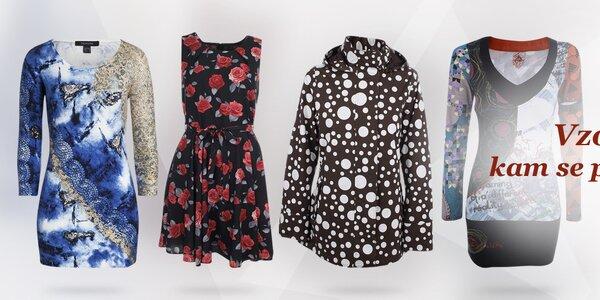 Vzorované oblečení a boty - vše skladem