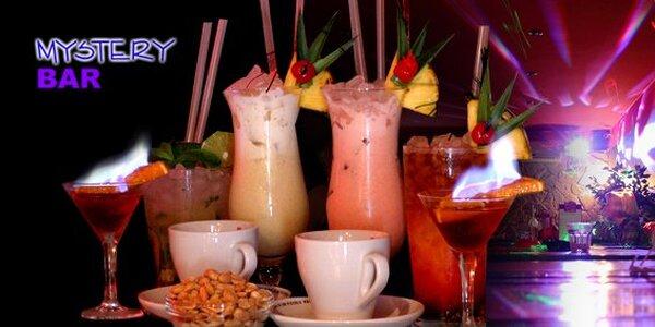 220 Kč za 4x míchaný drink dle výběru, 2x espresso Piacetto, 2x Siboney 34 pro…