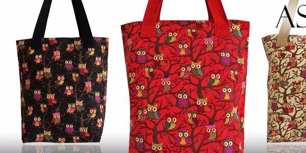 Látkové kabelky s rozkošnými sovičkami