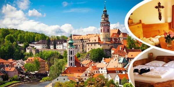Romantický pobyt pro 2 osoby na 3 dny v Českém Krumlově