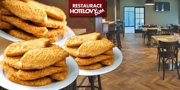Excelentní řízečky v Restauraci Hotelový dům v Olomouci