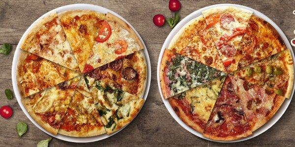 2 pizzy dle vlastního výběru včetně rozvozu