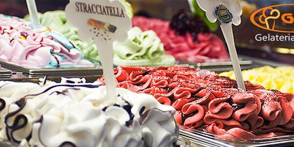 Pravá italská zmrzlina v Gelati Eis Caffé