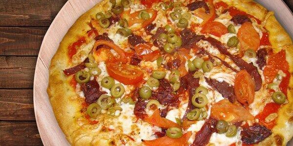Pizza dle výběru z 5 nejoblíbenějších druhů