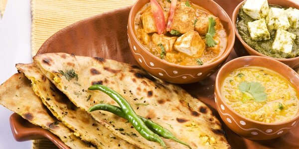 Bohaté indické menu pro 2 osoby
