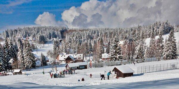 Zima i jaro v Jizerských horách s polopenzí