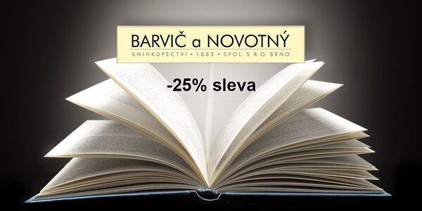 25% sleva na nákup v prodejnách Barvič a Novotný