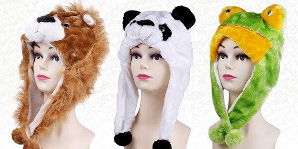 Zimní čepice á la hlavy zvířat
