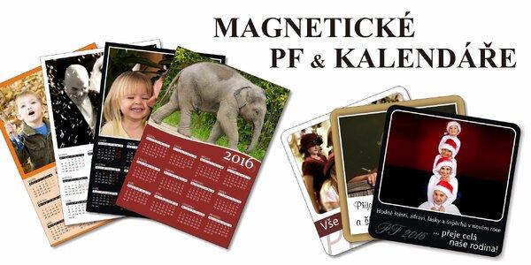Magnetické kalendáře i PF s vlastními fotkami