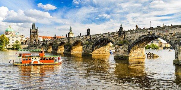 Romantická plavba centrem Prahy
