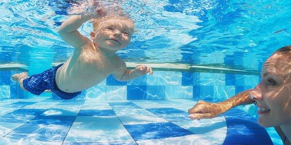 Lekce plavání pro děti od 4 měsíců do 7 let