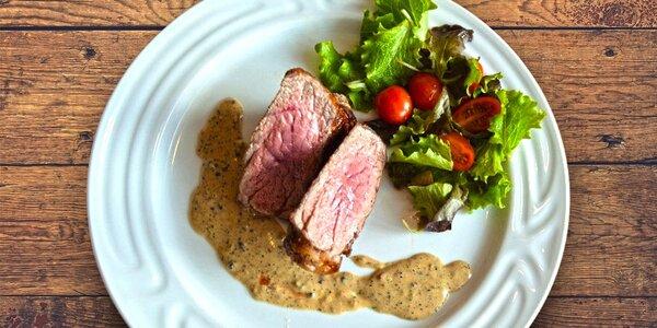 Poctivé hovězí steaky s přílohou pro dva
