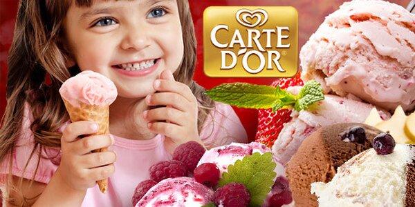 Jen 8 Kč za kopeček úžasné zmrzliny Carte d'Or!