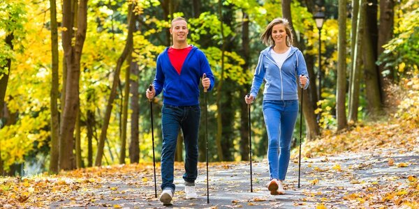 Kurz Nordic walking v Krčském lese v Praze
