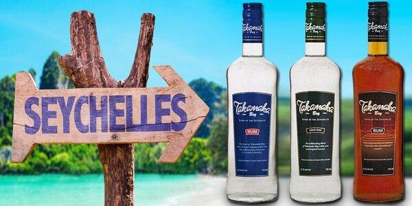 Originální seychelské rumy Takamaka