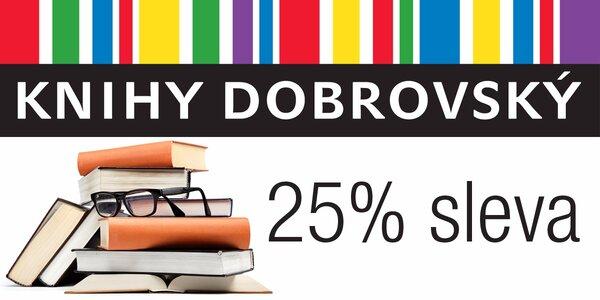 25% sleva do knihkupectví Knihy Dobrovský