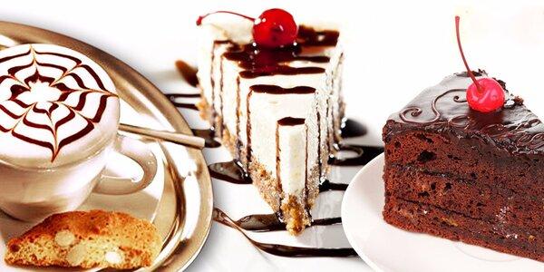 2 skvostné dortíky dle výběru a teplé nápoje