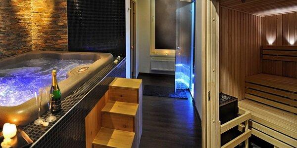 2 hodiny privátního spa: sekt, vířivka a sauny