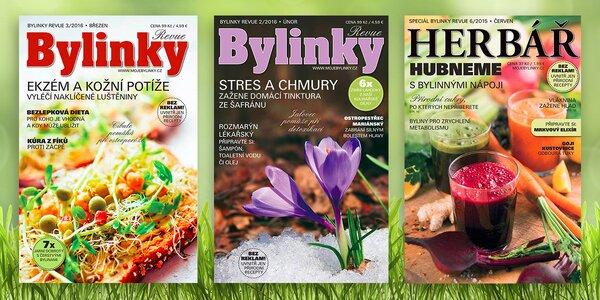Roční předplatné časopisu Bylinky revue
