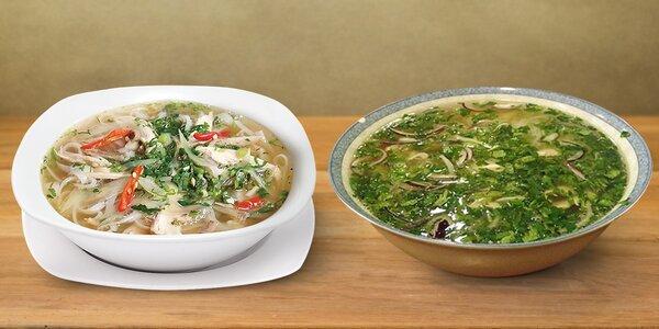 Oblíbené vietnamské polévky Pho a Bún ga v Sapa