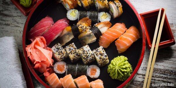 Nabité sushi sety v centru Prahy