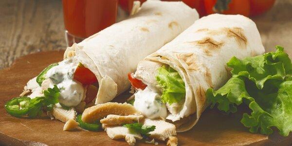 Kebab v tortille pro jednoho nebo dva