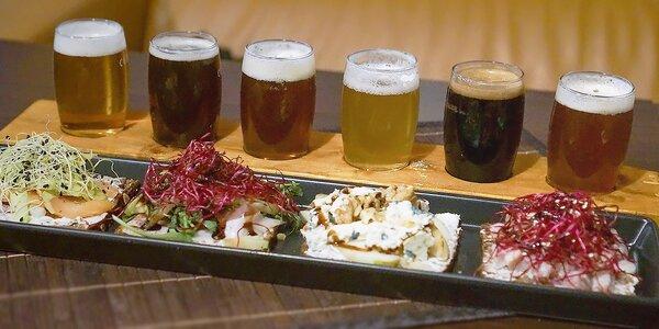 Degustace šesti řemeslných piv a čtyři sendviče