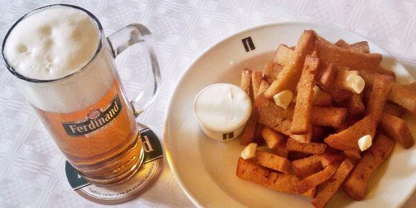 Posezení u pivek Ferdinand 11° a chuťovka