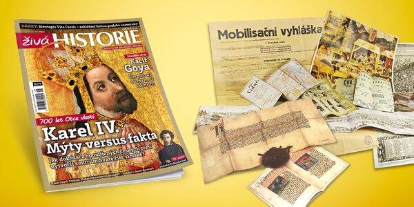 Předplatné časopisu Živá historie vč. dárků