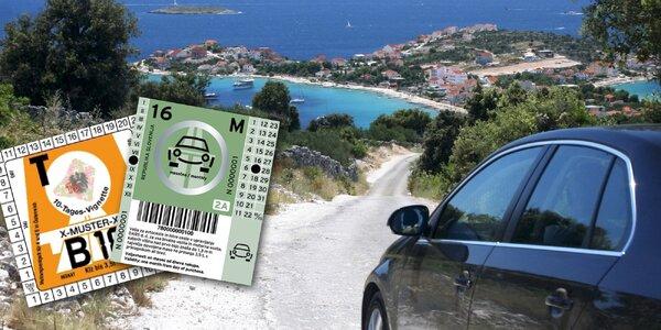 Dálniční známky s pojištěním na cestu do Chorvatska