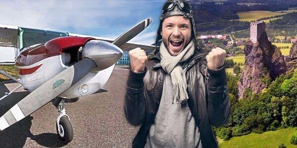 Seznamovací let v letadle Cessna vč. pilotování