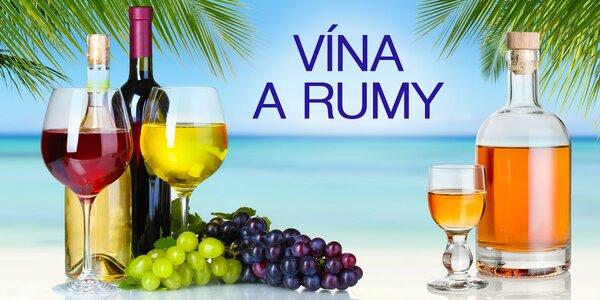 Vína a rumy, které musíte ochutnat